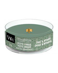 Woodwick Duftkerze Sage & Myrrh Petite