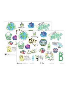Avery Zweckform Motivsticker A5 Lettering Umweltsprüche