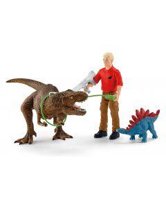 Schleich Spielfigurenset Dinosaurs Tyrannosaurus Rex Angriff