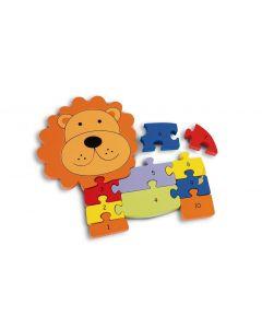 orange tree toys Holzpuzzle Zahlenpuzzle Löwe