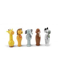 orange tree toys Beschäftigungsspielzeug Kegelspiel Safari