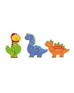 orange tree toys Holzpuzzle Puzzle Set Dinosaurier