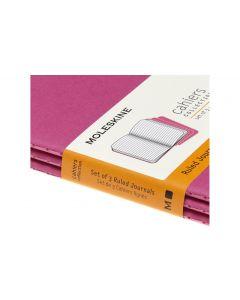 Moleskine Notizbuch A6 Liniert, Pink, 3-teilig