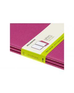 Moleskine Notizbuch XL Blanko, Pink, 3er Set