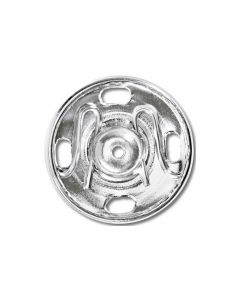 Prym Druckknöpfe Ø 17 mm, Silber, 4 Stück