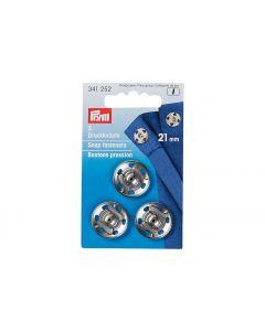 Prym Druckknöpfe Ø 21 mm, Silber, 3 Stück