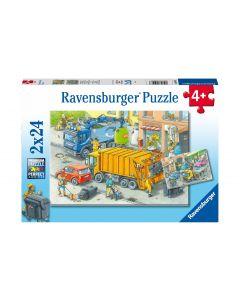 Ravensburger Puzzle Abschleppwagen / Müllabfuhr