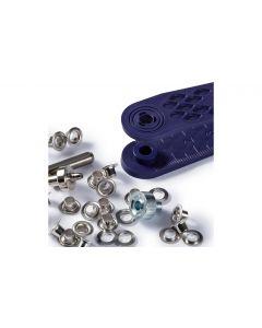 Prym Ösen + Scheiben 4 mm, Silber, 50 Stück