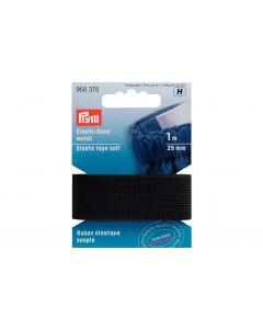 Prym Elastikband 25 mm, Schwarz