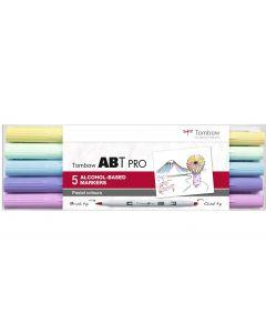 Tombow Stifte Pastel Colors, mit Box, 5er-Set