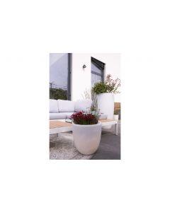 8 Seasons Design Blumentopf SOLAR Shining Curvy Pot S 11L, Weiss