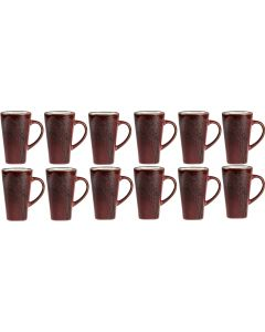 Villa Collection Kaffeebecher 0.5 l, 12 Stück, Rot