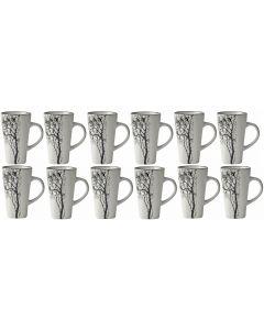 Villa Collection Kaffeetasse 0.5 l, 12 Stück, Grau