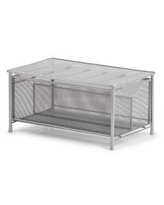 Zeller Present Aufbewahrungsbox Mesh Silber