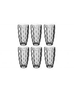 Leonardo Longdrinkglas Brindisi 370 ml, 6 Stück, Anthrazit