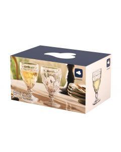 Leonardo Weissweinglas Brindisi 240 ml, 6 Stück, Anthrazit