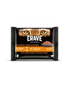 Crave Nassfutter Truthahn und Huhn 4 x 85 g