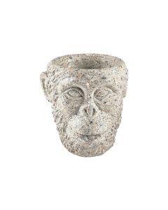 Villa Collection Blumentopf Gorilla, 19 cm, Hellgrau