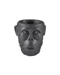 Villa Collection Blumentopf Gorilla, 19 cm, Schwarz