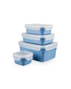 Emsa Vorratsbehälter Clip & Close 4-teilig, 3.55 l, Blau