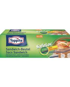 Toppits Sandwichbeutel Safeloc 25 Stück