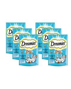 Dreamies Katzen-Snack mit Lachs, 6 x 60g