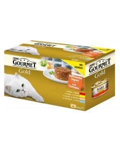 Purina Nassfutter Gourmet Gold Raffiniertes Ragout, 4x85g