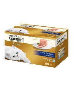 Purina Nassfutter Gourmet Gold Mousse Thunfisch, 4x85g