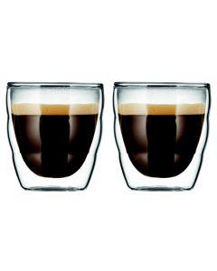 Bodum Espressoglas Pilatus 0.8 dl, 2 Stück, Transparent