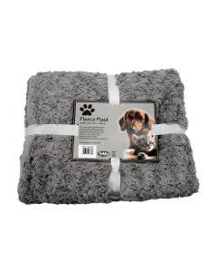 Nobby Hunde-Fleecedecke SuperSoft hellgrau, 100x150cm