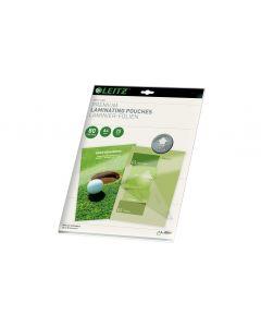 Leitz Laminierfolie Premium A4, 80 µm, 25 Stück, Glänzend