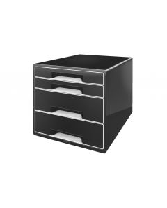 Leitz Schubladenbox Wow Cube 4 Schwarz