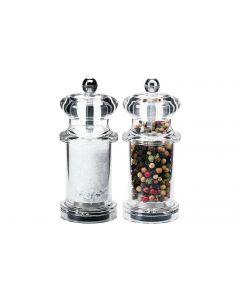Moha Salz- und Pfeffermühlen-Set Millies 10 cm Transparent