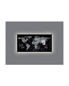 Sigel Glassboard LED artverum World-Map