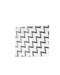 Jolie Notizbuch White Monochrome A5, Liniert, Weiss/Schwarz/Lila