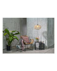 Villa Collection Stuhl Rattan/Metall, Braun