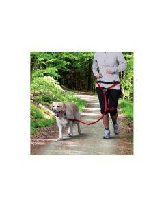 Trixie Joggingleine Bauchgurt mit Leine, rot