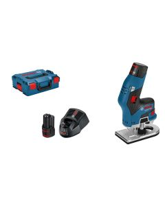 Bosch Professional Akku-Kantenfräse GKF 12V-8, 2 x 3.0Ah, L-Boxx Kit