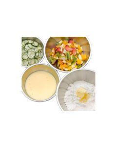 WMF Rührschüssel-Set Gourmet 0.75 l/1 l/2 l/2.75 l, Silber