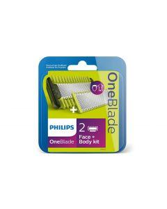 Philips Rasierklingen OneBlade & BodyKit QP620/50 2 Stück