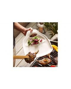 Villeroy & Boch Speiseteller BBQ Passion Steak 1 Paar, Weiss