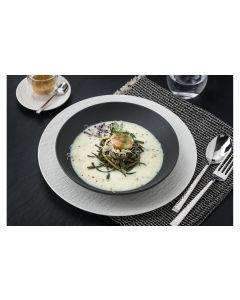 Villeroy & Boch Suppen- und Pastateller Manufacture Rock 6 Stück, Schwarz