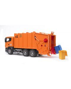 Bruder Spielwaren Lastwagen Scania R-Serie oranger Müll-LKW
