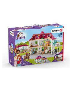 Schleich Spielfigurenset Horse Club Grosser Pferdehof mit Wohnhaus