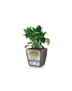 Lechuza Pflanzentopf Quadro Premium 21 LS Silber