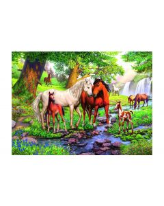 Ravensburger Puzzle Wildpferde am Fluss