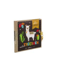 Goldbuch Tagebuch Happylife Lama