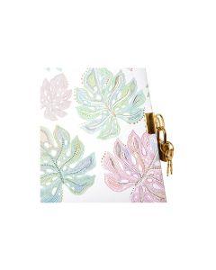 Goldbuch Tagebuch Flora Leaves