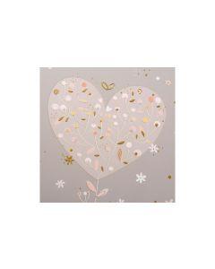 Goldbuch Hochzeitsalbum Elegant Hearts Mehrfarbig