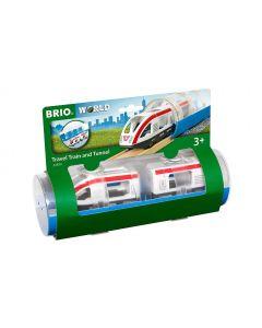 BRIO Eisenbahn Reisezug und Tunnel